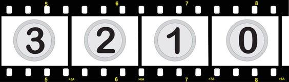 Bande de film avec des numéros Images libres de droits