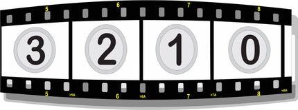 Bande de film avec des numéros Photo libre de droits