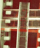 Bande de film de collage de vecteur de bobine de film dans des variations de sépia Photos libres de droits