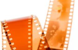 bande de film de 35 millimètres sur le blanc Image libre de droits