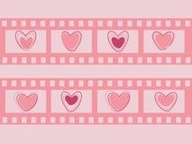 Bande de film de Saint-Valentin Images stock
