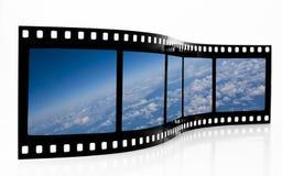Bande de film de vue de l'espace Photo libre de droits
