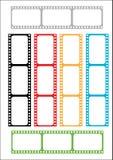 Bande de film multicolore Photos stock