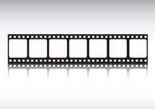 Bande de film reflétée Photographie stock libre de droits
