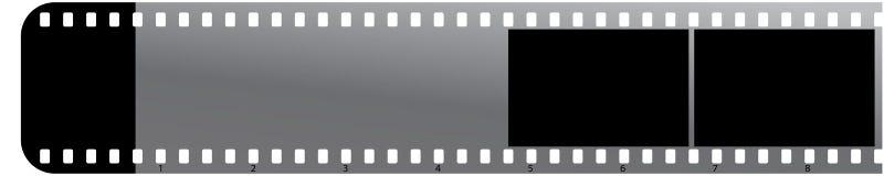 Bande de film sur l'icône blanche de background Image libre de droits