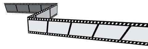 Bande de film sur l'icône blanche de background Images stock