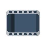 Bande de film sur l'icône blanche de background Style plat de conception Photo stock