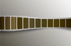 Bande de film de vecteur Fond d'extrait de film du film 3d Cinématographie de photo de bobine de film Illustration Libre de Droits