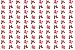 Bande de Georgievsky et fleurs artificielles rouges photos stock