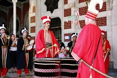 Bande de Janissary des musiciens images stock