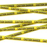 Bande de jaune de précaution et de danger illustration stock