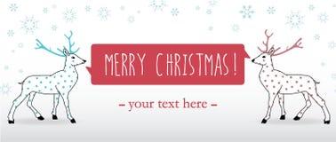Bande de Joyeux Noël Photo stock