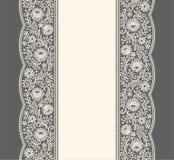 Bande de lacet Modèle sans couture vertical illustration stock