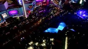 Bande de Las Vegas à la nuit, septembre 12,2014 Las Vegas, Nevada banque de vidéos