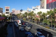 Bande de Las Vegas, aéroport international de McCarran, voiture, zone métropolitaine, ville, zone urbaine Images stock