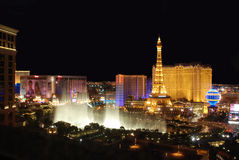 Bande de Las Vegas la nuit Photographie stock libre de droits