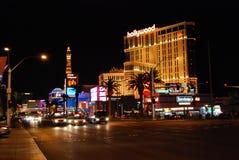 Bande de Las Vegas, la bande, Paris Las Vegas, hôtel de Paris et casino, aéroport international de McCarran, station de vacances  Images stock