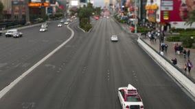 Bande de Las Vegas - laps de temps - décalage d'inclinaison banque de vidéos