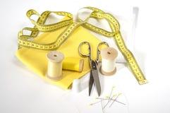 Bande de mesure et accessoires de couture Photographie stock