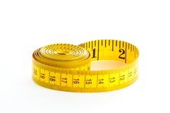 Bande de mesure jaune image stock