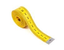 Bande de mesure jaune Image libre de droits