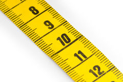 Bande de mesure jaune - foyer sélectif Images stock