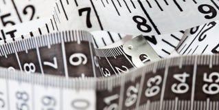 Bande de mesure, symbole de la mise sur pied et régimes images stock