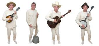 Bande de musique country de plouc - pleine d'humour Photographie stock libre de droits