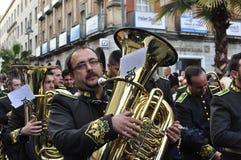 Bande de musique dans la paume dimanche Photos stock