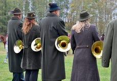 Bande de musique du ` s de chasseur Photos stock