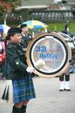 Bande de pipe de la démocratie 250, Halifax, la Nouvelle-Écosse Image stock