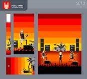 Bande 2 de pixel Image libre de droits