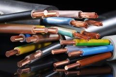 Bande de puissance et cable électrique photos stock