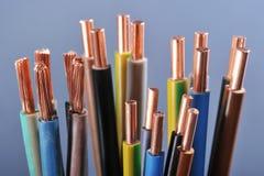 Bande de puissance et cable électrique image stock