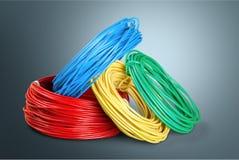 Bande de puissance et cable électrique Photographie stock libre de droits