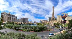 Bande de renommée mondiale de Las Vegas à Las Vegas, Nevada La bande de Vegas est à la maison aux plus grands hôtels et casinos d photographie stock libre de droits