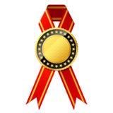 bande de rouge d'or d'insigne illustration libre de droits