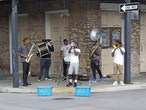 Bande de rue de la Nouvelle-Orléans image libre de droits