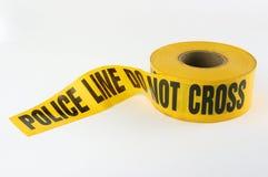 Bande de scène du crime de police Photographie stock