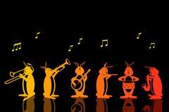 Bande de vecteur musical de lapins Photographie stock libre de droits