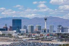 Bande de Vegas, 3 bout droit de 8 milles décrit avec les hôtels et le casino de classe du monde à Las Vegas, Nevada Images libres de droits