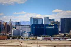 Bande de Vegas, 3 bout droit de 8 milles décrit avec les hôtels et le casino de classe du monde à Las Vegas, Nevada Image libre de droits
