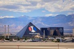 Bande de Vegas, 3 bout droit de 8 milles décrit avec les hôtels et le casino de classe du monde à Las Vegas, Nevada Photo libre de droits