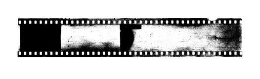 Bande de vieux film d'appareil-photo avec la poussière et des éraflures illustration de vecteur