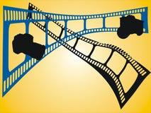Bande del film colorato e della macchina fotografica Immagine Stock Libera da Diritti