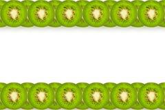 Bande del kiwi su bianco Fotografie Stock Libere da Diritti