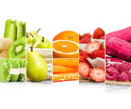 Bande della miscela della crema del gelato alla frutta Fotografie Stock