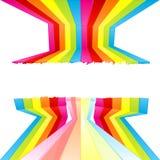 Bande della parete colorate vernice di Grunge Immagine Stock