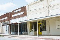 Bande des magasins abandonnés dans le Texas Image stock