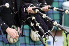 Bande des montagnes écossaise de pipe photographie stock